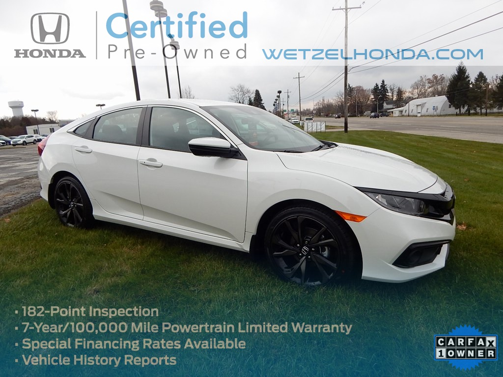 Certified Pre Owned 2019 Honda Civic Sport
