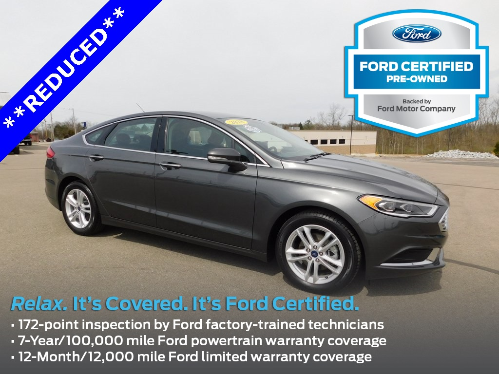 Ford Certified Pre Owned >> Certified Pre Owned 2018 Ford Fusion Se 4d Sedan In Richmond G93864